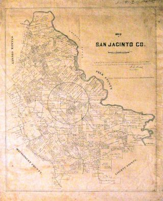 Map of San Jacinto Co. Texas General Land Office