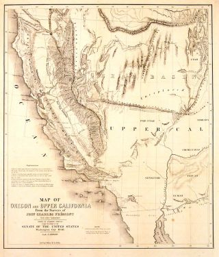 Map of Oregon and Upper California from the Surveys of John Charles Fremont and other...