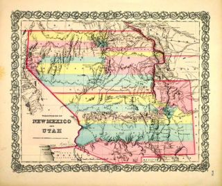 Territories of New Mexico and Utah. Colton